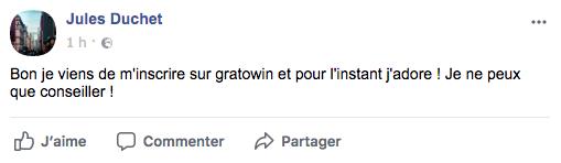 Avis facebook gratowin