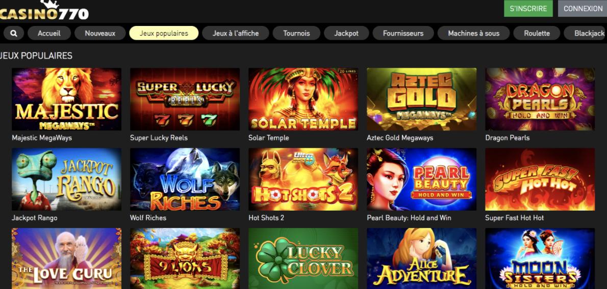 Casino770 avis 2020 meilleurs jeux