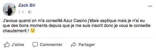 avis joueur azur casino