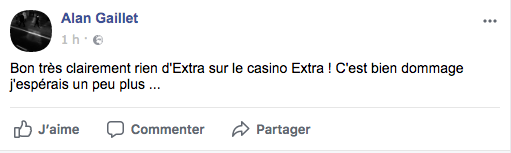 commentaire facebook extra