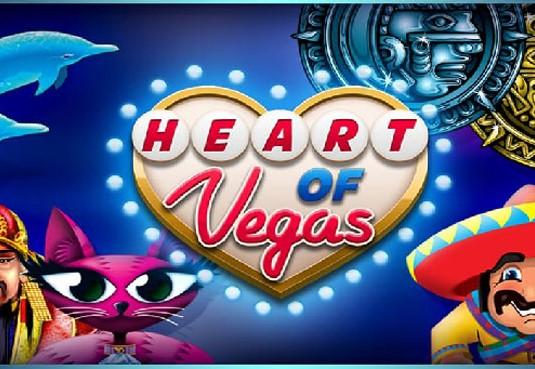 Machine à sous Heart of Vegas : Au coeur du jeu